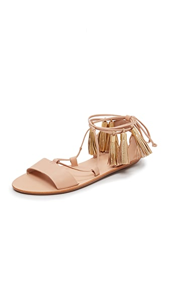 Loeffler Randall Saffron Tassel Lace Up Sandals