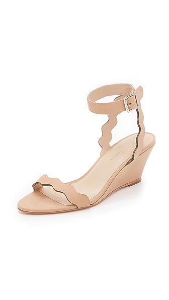 Loeffler Randall Minnie Wedge Sandals - Wheat