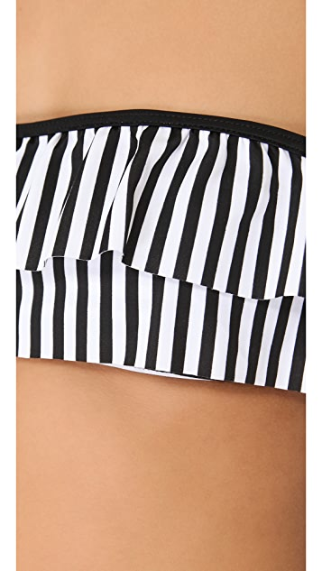 Lolli Got the Beat Bandeau Bikini Top