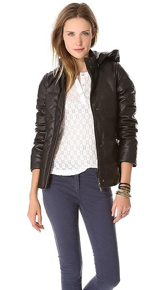 Lot78 Puffa Convertible Leather Vest / Coat