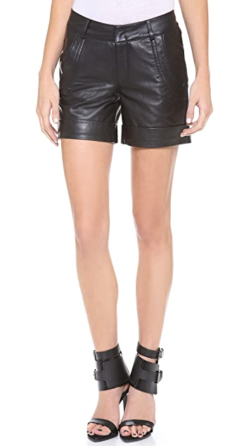 Lot78 Leather Shorts