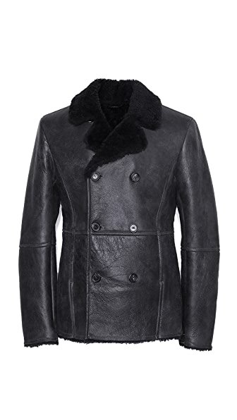Lot78 Shearling Pea Coat