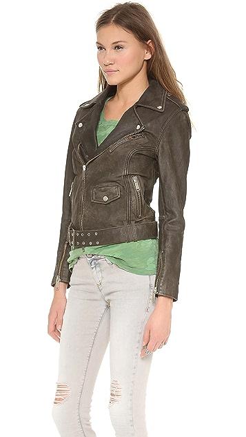 Lot78 Beaten Biker Leather Jacket
