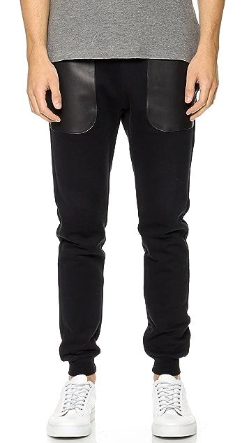 Lot78 Leather Patch Sweatpants