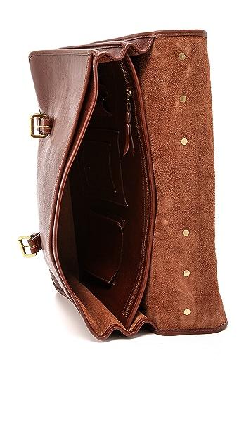 Lotuff Leather Bound-Edge English Briefcase