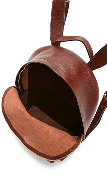 Lotuff Leather Zipper Backpack