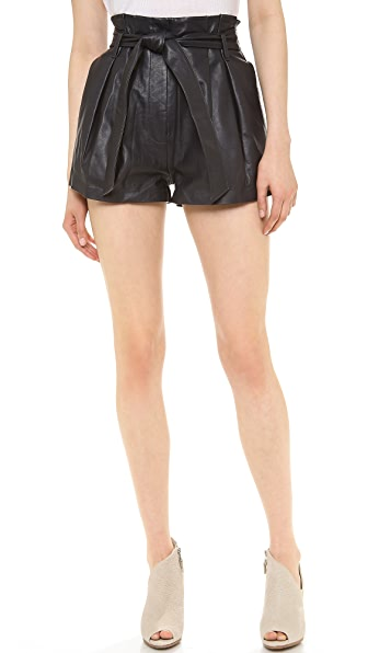 Lover Downtown Leather Shorts