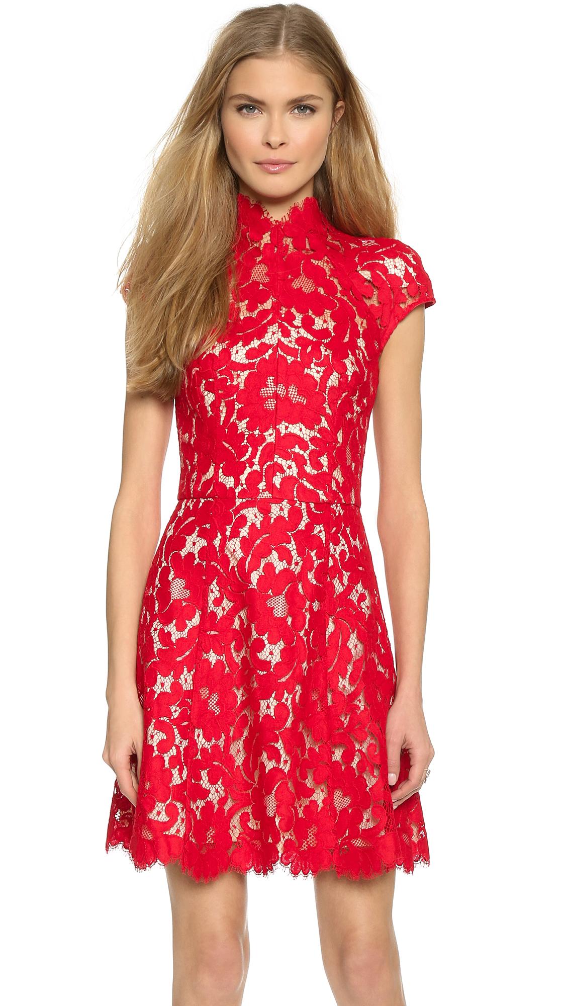 Lover Warrior Lace Mini Dress - Rose