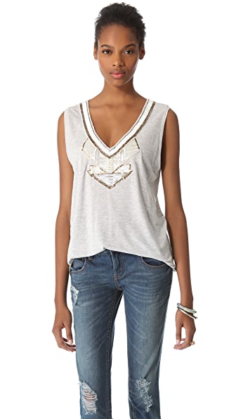 Love Sam Jersey Beaded Tee