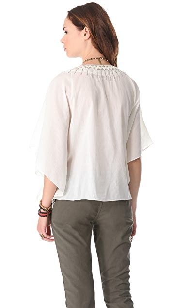 Love Sam Metallic Sequin Poncho Top