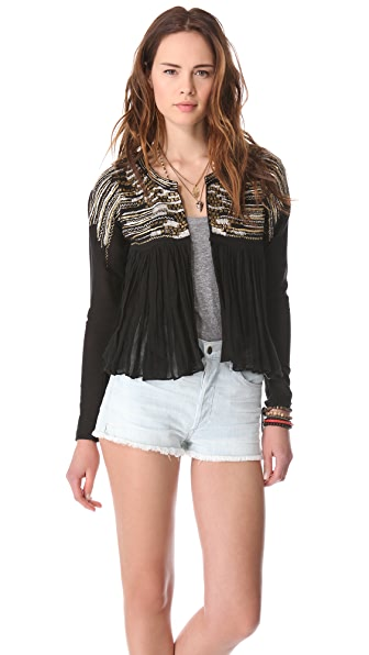 Love Sam Metallic Waterfall Gauze Jacket