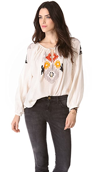 Love Sam Beaded Ikat Top