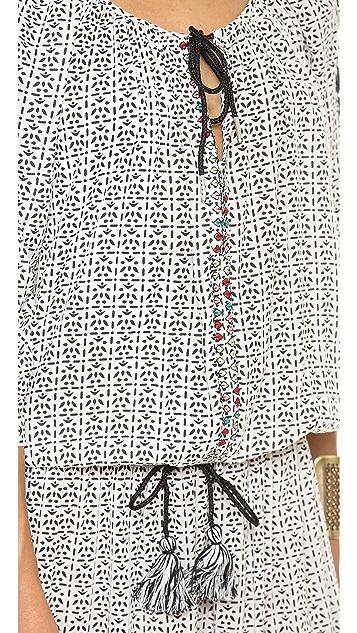 Love Sam Floral V Neck Dress