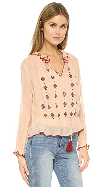Love Sam Lena Crinkle Blouse