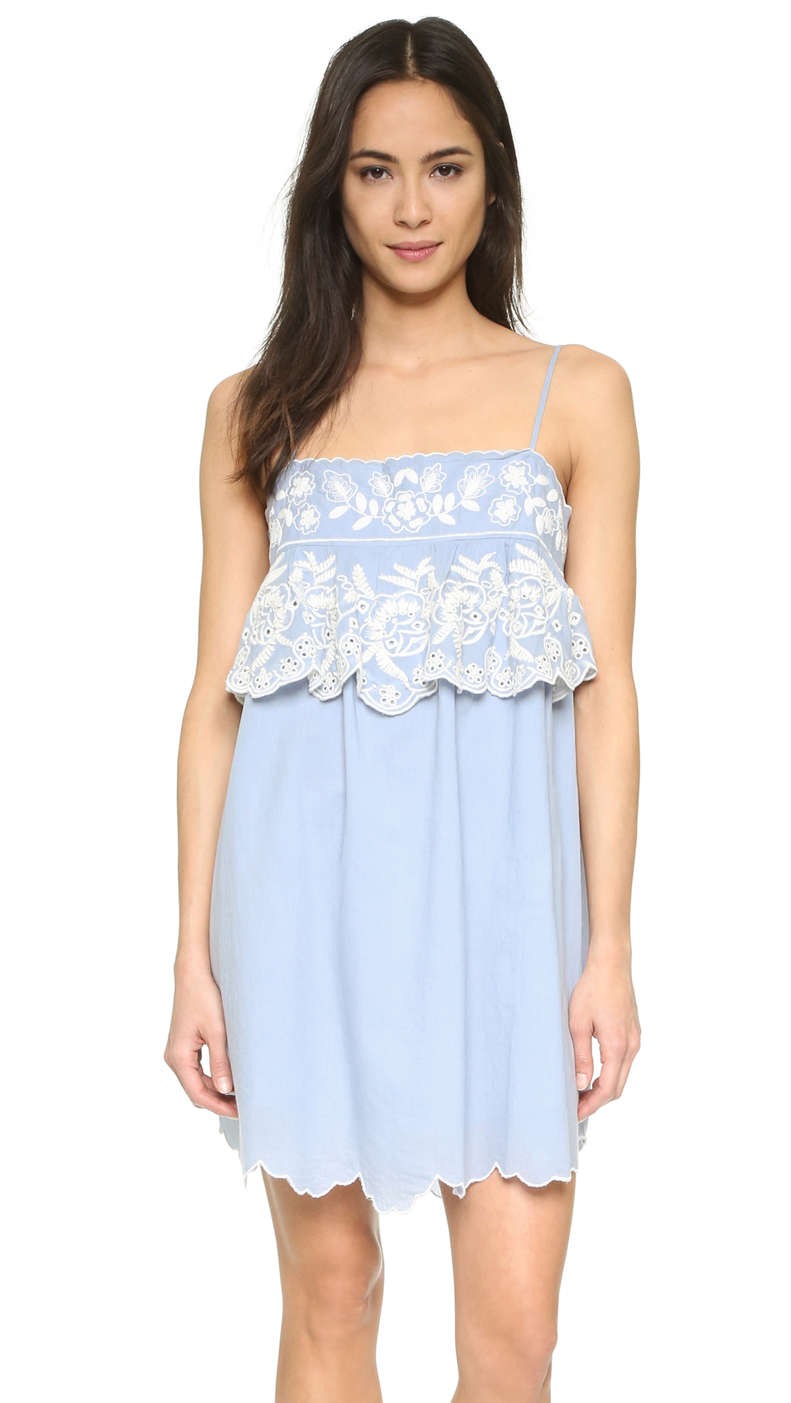 Love Sam Seraphina Dress - Chambray/Ivory at Shopbop