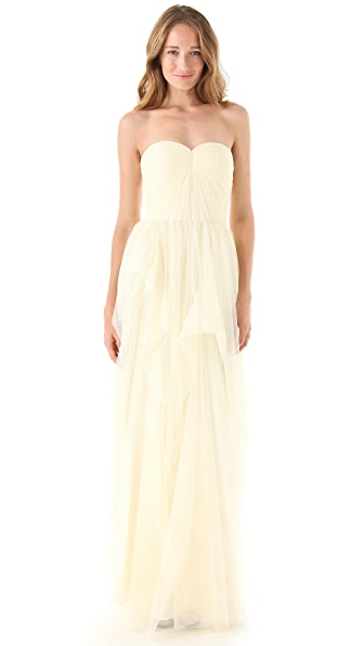 Love, Yu Sweetheart Strapless Gown