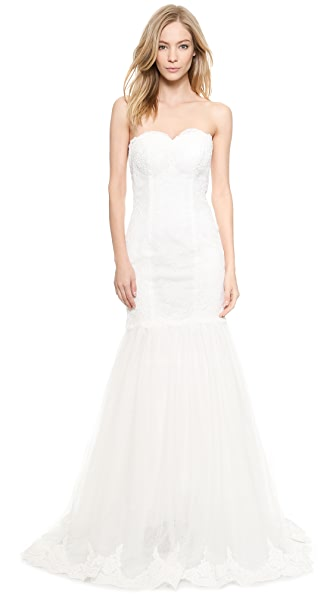 Love, Yu Paige Sweetheart Strapless Mermaid Gown
