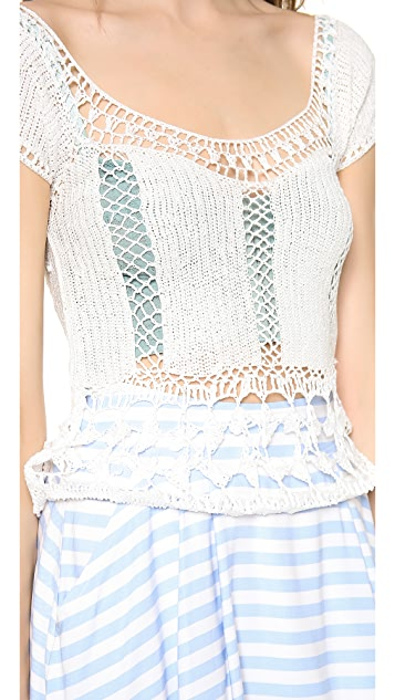 Lovers + Friends Calisto Crochet Top