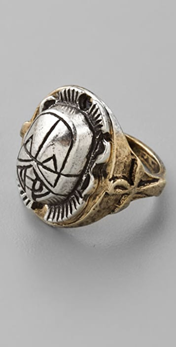 Low Luv x Erin Wasson Two Tone Scarab Ring