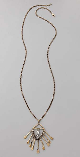 Low Luv x Erin Wasson Hammered Drop Crystal Necklace