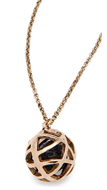Low Luv x Erin Wasson Cage Sphere & Lava Ball Necklace