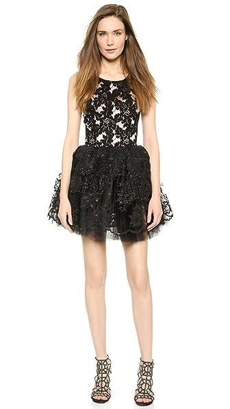 Loyd/Ford Beaded Lace Dress - Black