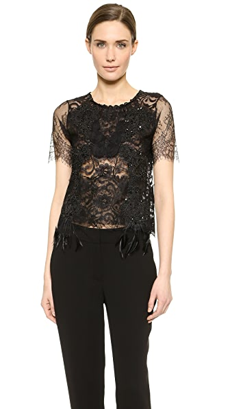 Loyd/Ford Feathered Lace Blouse