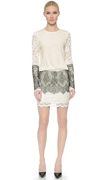 Loyd/Ford Long Sleeve Dress - White/Black