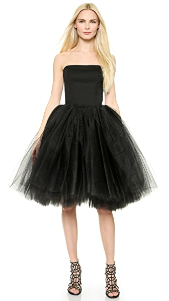 Loyd/Ford Bustier Tulle Gown - Black