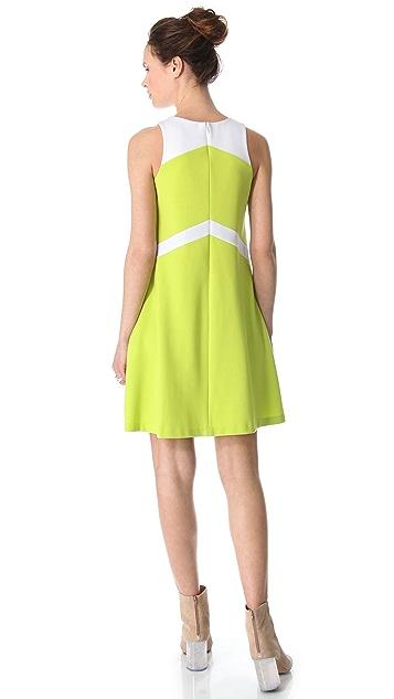 Lisa Perry Sleeveless Chevron Dress