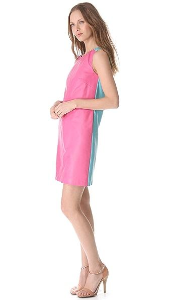 Lisa Perry Leather Peek-A-Boo Dress