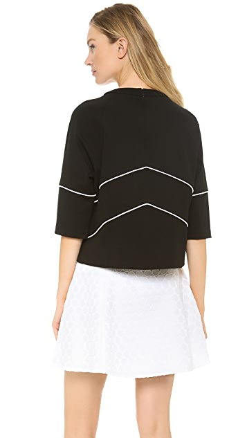 Lisa Perry Ponte Chevron Sweatshirt