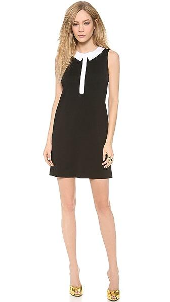 Lisa Perry Trompe l'Oeil Collar Dress