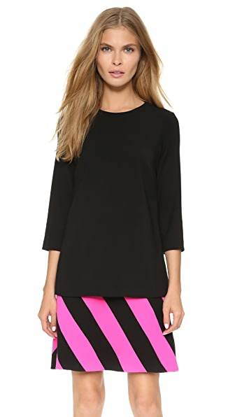 Shop Lisa Perry online and buy Lisa Perry Caution Dress Black/Hot Pink online store