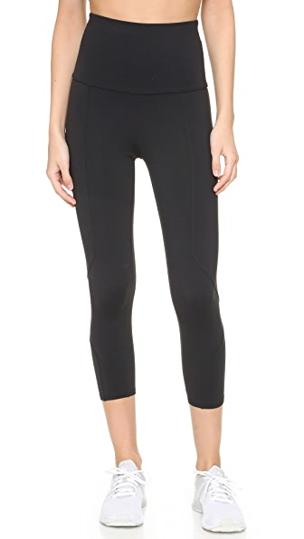 LIVE THE PROCESS Geometric Crop Legging - Black/Black