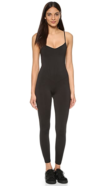 LIVE THE PROCESS Corset Unitard - Black