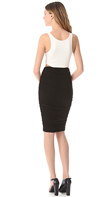 LRK Ruched Cutout Dress