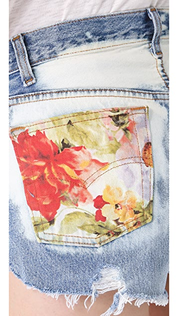 The Laundry Room Watercolor Floral Shorts
