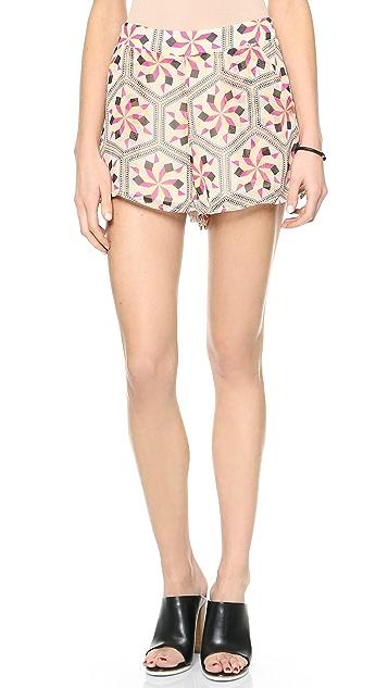 Love Sadie Print Shorts