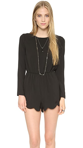 Love Sadie Scalloped Romper
