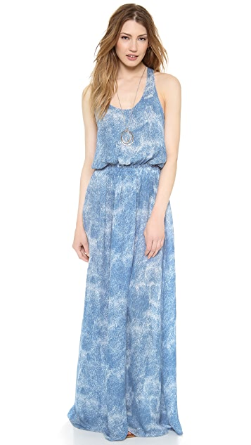 LOVESHACKFANCY Cloudburst Racer Slit Dress
