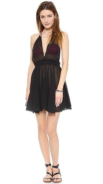 LOVESHACKFANCY Halter Mini Dress