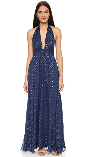 LOVESHACKFANCY Metallic Dot Fancy Maxi Dress