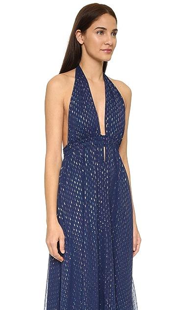 LOVESHACKFANCY Metallic Dot Fancy Maxi Dress