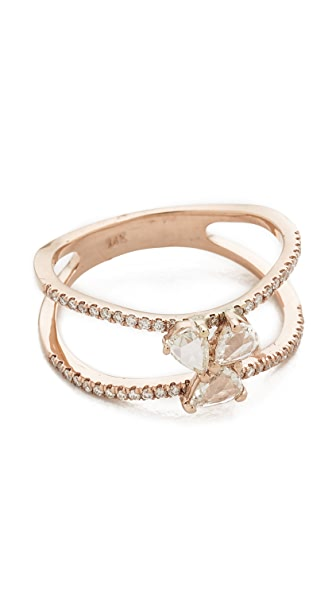 Luna Skye Diamond Cluster Double Band Ring