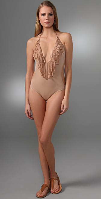 L*Space Stardust Solid Fringe One Piece