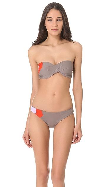 L*Space Colorblock Bandeau Bikini Top