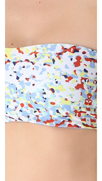 L*Space Confetti Byrdie Reversible Bikini Top