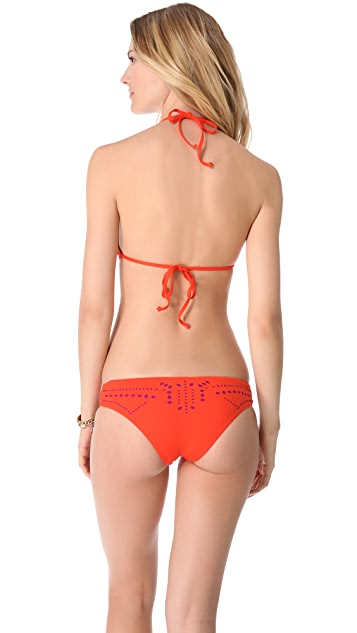 L*Space Flutter Bye Aliza Halter Bikini Top