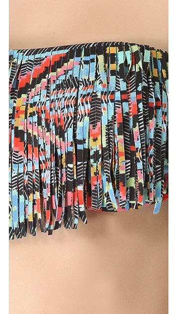 L*Space Jessie Fringe Bandeau Bikini Top
